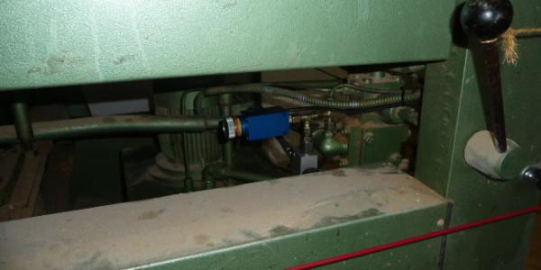 Furnierpresse Schalthebel